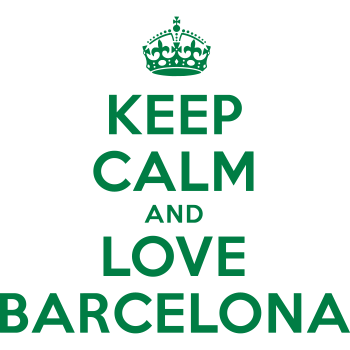 T-Shirt keep calm and love barcelona<br />imprimer sur un tee shirt
