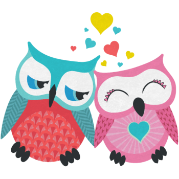 T-Shirt owls in love <br />imprimer sur un tee shirt
