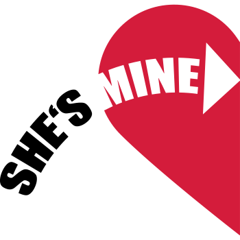 T-Shirt She's Mine Love Heart<br />imprimer sur un tee shirt