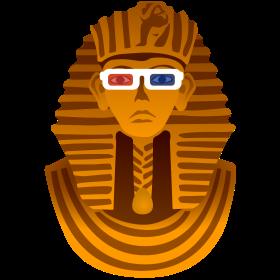 Pharao mit 3D Brille auf dein T-Shirt