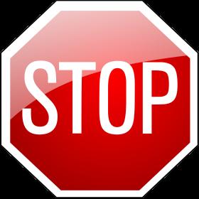 Stopschild auf dein T-Shirt