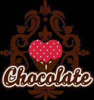 T-Shirt chocolat design<br />imprimer sur un tee shirt