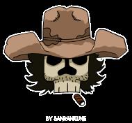 T-Shirt Dead Cowboy<br />imprimer sur un tee shirt