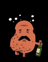 T-Shirt Monsieur Cirrhose<br />imprimer sur un tee shirt
