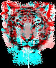 T-Shirt tigres colores <br />imprimer sur un tee shirt