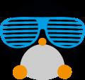 Motif Bébé Pingouin