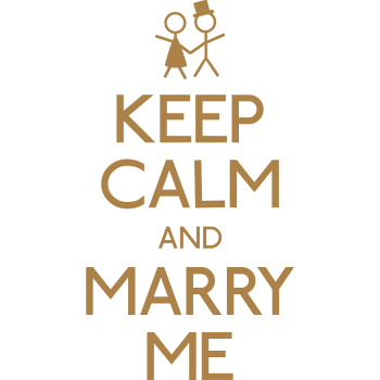 T-Shirt keep calm marry me<br />imprimer sur un tee shirt