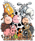 Motif Bande d'animaux