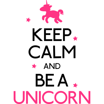 T-Shirt keep calm and be a unicorn<br />imprimer sur un tee shirt