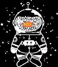 T-Shirt Astronaute avec un poisson rouge <br />imprimer sur un tee shirt
