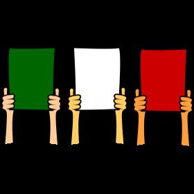 Italien Fans mit Choreographie auf dein T-Shirt