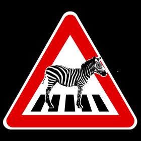 Achtung Zebra auf Zebrastreifen auf dein T-Shirt