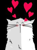 Motif Chat Amoureux