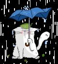 Motif Chaton sous la pluie