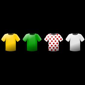tour de france Trikots Icons auf dein T-Shirt