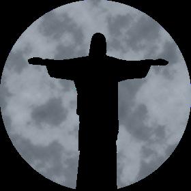 Cristo Redentor in Rio de Janiero vor Mond auf dein T-Shirt
