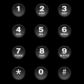 Nummernblock von Handy auf dein T-Shirt