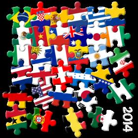 Weltmeisterschaft Puzzle auf dein T-Shirt