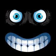 T-Shirt tête en colère bleu <br />imprimer sur un tee shirt