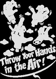 T-Shirt Throw your hands flex<br />imprimer sur un tee shirt
