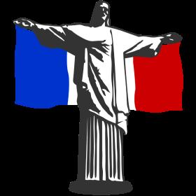Frankreich Jesus in Rio auf dein T-Shirt