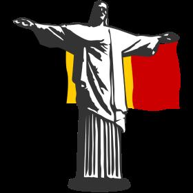 Belgien Jesus in Rio Shirt auf dein T-Shirt