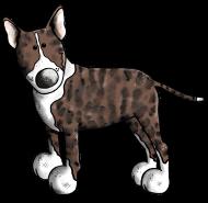 T-Shirt Bull Terrier gris<br />imprimer sur un tee shirt