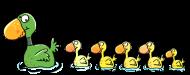 T-Shirt famille de canards<br />imprimer sur un tee shirt