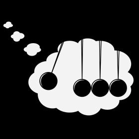 Kugelstoßpendel in Denkblase Comic auf dein T-Shirt