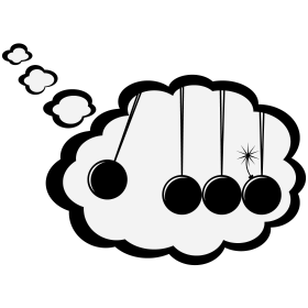 Kugelstoßpendel in Denkblase mit Bombe Comic auf dein T-Shirt