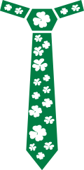 Motif Cravate St Patrick