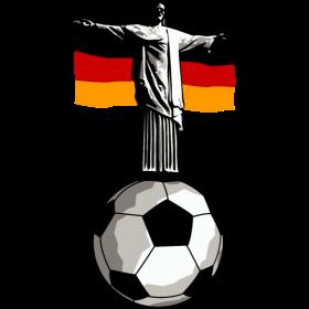 Deutschland Jesus in Rio mit Fußball auf dein T-Shirt