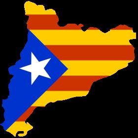 Katalonien Karte mit Fahne auf dein T-Shirt