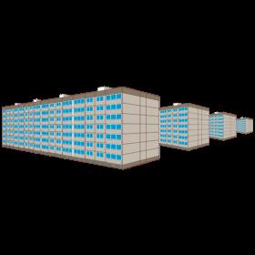Wohnung Plattenbausiedlung Ost 3D auf dein T-Shirt
