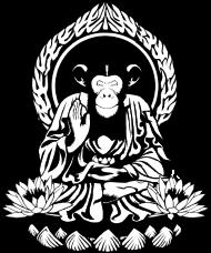 T-Shirt singe zen attitude <br />imprimer sur un tee shirt