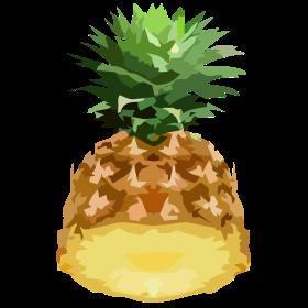 halbe Ananas auf dein T-Shirt
