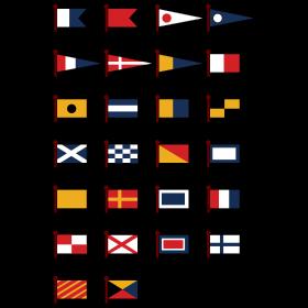 Maritime Signal Flags Seefahnen auf dein T-Shirt