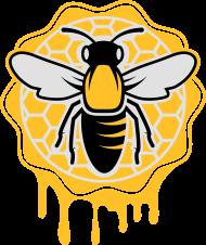 T-Shirt une abeille et nid d'abeille<br />imprimer sur un tee shirt