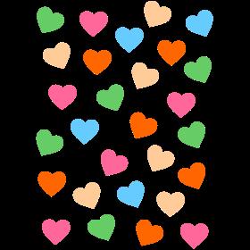 bunte kleine Herzen auf dein T-Shirt