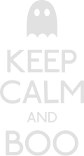 Motif Keep calm ad boo