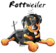 T-Shirt Rottweiler couché<br />imprimer sur un tee shirt