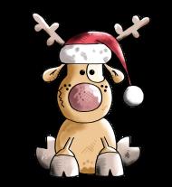 T-Shirt chien rennes de noël<br />imprimer sur un tee shirt