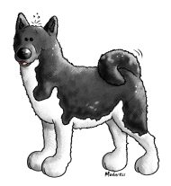 T-Shirt chien Akita<br />imprimer sur un tee shirt