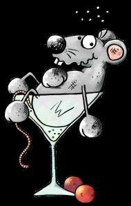 T-Shirt cocktail de souris <br />imprimer sur un tee shirt