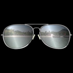 Sonnenbrille mit Sandstrand auf dein T-Shirt