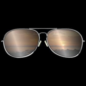 Sonnenbrille mit Sonnenuntergang auf dein T-Shirt