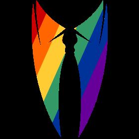 Regenborgenkragen mit Krawatte auf dein T-Shirt