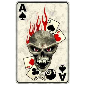 T-Shirt poker card<br />imprimer sur un tee shirt