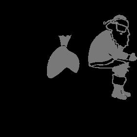Weihnachtsmann kackt in Schornstein auf dein T-Shirt