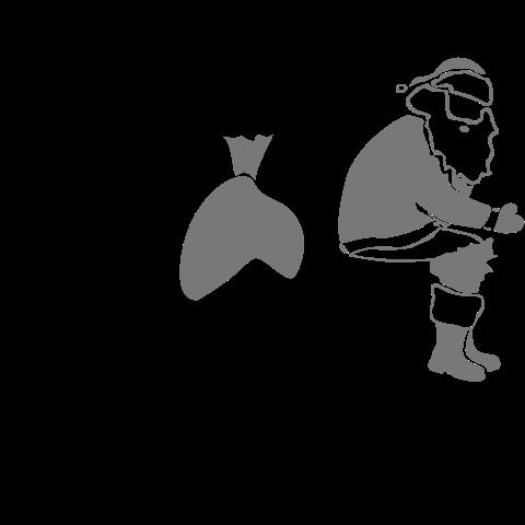 T-Shirt mit Weihnachtsmann kackt in Schornstein